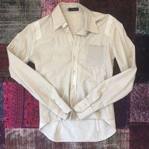 Dsquared2 Man Beige Shirt Cotton